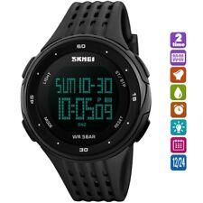 Fashion Mens Quartz Wrist Watch Digital Military Army Sport Waterproof Date LED