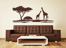 Landscape: Africa Safari Savannah Serengeti Giraffe Wall Sticker Wall Decal