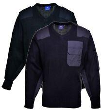 Portwest B310 black or navy Nato security v neck sweater/jumper size S-3XL