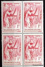 Timbres neufs de GUADELOUPE  Yt 201  BLOC DE 4  1947