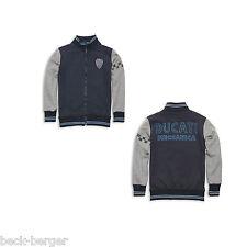 DUCATI RETRO Kinder Sweatjacke Sweatshirt Pullover KIDS grau blau NEU 2013 !!