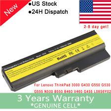Battery for Lenovo 3000 G530-4446 N500-4233 IdeaPad B550 G430 G550 G555 /Adapter