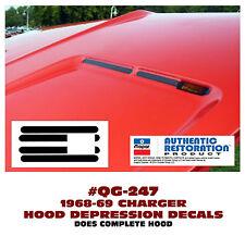 QG-247 1968-69 DODGE CHARGER - HOOD DEPRESSION DECAL KIT - CHOOSE COLOR