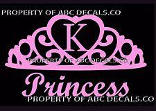 VRS Crown Royal Tiara Queen Princess Heart Love Custom INITIAL K Car Vinyl Decal