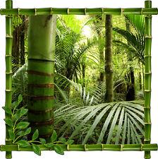 Sticker mural déco trompe l'oeil Forêt Bambous réf 934