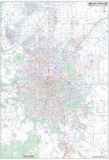 Metro Denver-Aurora-Boulder CO Detailed Region Wall Map w/Zip Codes