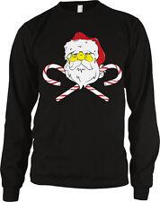 Santa Claus Candy Canes Christmas Merry Xmas Head Crossed Season Men's Thermal