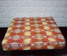 AF254t Red Orange Leaf Cotton Canvas 3DBox Sofa Seat Cushion Cover Custom Size