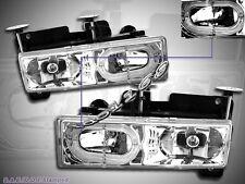 1988-1999 Chevy Full Size C/K Tahoe GMC Yukon Suburban  Headlights Halo Clear