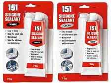 Nuevo pequeño trabajo blanco o claro de tubo de silicona listo para usar el baño, cocina Impermeable.