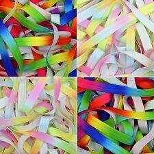 "Rainbow and Pastel Fold Over Elastic 15mm (5/8"") Soft Baby Headband Hair Bow FOE"