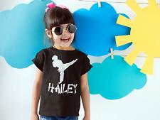 Girls Personalized Karate Shirt - Kids Martial Arts TShirt - girl boy Tee