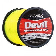 Rovex Devil Fishing Line Bulk 1/4lb Spool - Neon Yellow