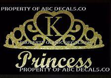 VRS Crown Royal Tiara Queen Princess Heart Love Custom INITIAL K Car Metal Decal