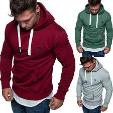 Herren Basic Logo Kapuzenpullover Sweatjacke Pullover Hoodie Sweatshirt 1-04028