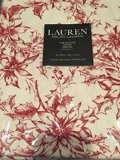 Ralph Lauren POINSETTIAS Red & White Floral Cotton Tablecloths--NWT