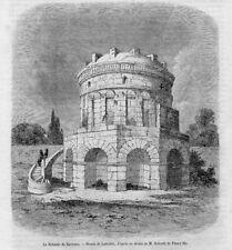 Stampa antica RAVENNA Mausoleo di Teodorico 1859