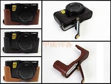 PU Leather Half Body Cover Bag bottom Case For Panasonic Lumix LX10 L-X10 Camera