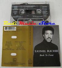 MC LIONEL RICHIE Back to front1992 HOLLAND MOTOWN 530 018-4 no cd lp dvd vhs(3*)