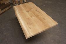 Arbeitsplatte Massivholzplatte Tischplatte Wildeiche naturbelassene Baumkante