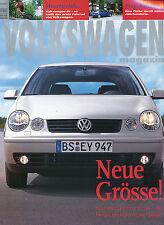 Volkswagen Magazin 3 01 2001 Golf Prag VW Passat Protect Polo W8 Richard Avedon