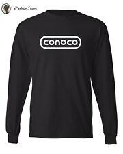 CONOCO INC Retro Oil Company logo Long Sleeve T-shirts  S-3XL