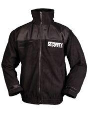 "Mil-Tec Fleece-Jacke ""Security"" Securityjacke Anorak Einsatzjacke Schwarz S-3XL"