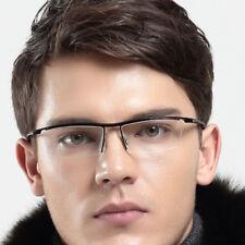 Titanium TR90 Flexible Eyeglass Frames Half Rimless Glasses Myopia unisex Rx