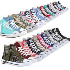 Damen High Top Sneakers Sportschuhe Kult Schnürer 94589 Mode