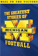 THE GREATEST STORIES OF MICHIGAN FOOTBALL (Bo Schembechler) DVD [V29]