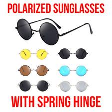 John Lennon Polarised Hippie Retro Round Men Women Sunglasses SPRING HINGE