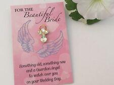 BEAUTIFUL BRIDE ANGEL PIN SOMETHING NEW WEDDING KEEPSAKE STYLE OPTIONS