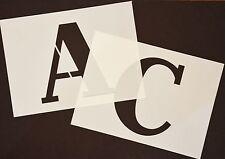 GRANDE Stencil Lettere o Numeri 140mm altezza su due diverse Stencil alfabeti