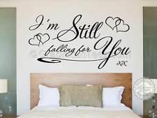 Todavía estoy cayendo para usted, Dormitorio Pegatinas De Pared, Calcomanía de cotización de amor romántico