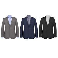 vidaXL Men's Business Blazer Slim-Fit Formal Coat Jacket Multi Sizes Colours✓