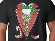 Santa Claus Tuxedo Shirt, Candy Cane Pocket, Funny Christmas Shirt, Small - 5X