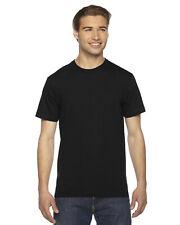 American Apparel Men'sT-Shirt Crew Neck Blank Cotton Tee Fine Jersey 2001 USA