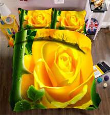 Orange Chrysanthemum 3D Printing Duvet Quilt Doona Cover Pillow Case Bedding Set