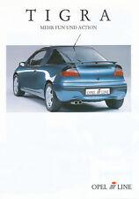 Opel Tigra I-Line Prospekt 7/97 brochure 1997 Auto PKWs Deutschland Verkehr