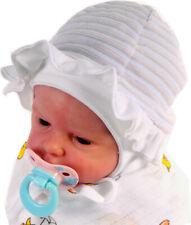 Mütze Zipfelmütze Baby Babymütze Haube Haube 34-46 Creme Blume Taufe 0-24
