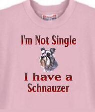 Schnauzer Dog T Shirt I'm Not Single I Have A Schnauzer - Men Women Adopt A Cat