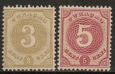 Curacao 1889 NVPH 16-17  MLH  VF
