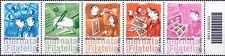 2012 codice 1498dx Giornata della filatelia - Italia - serie in striscia di 5