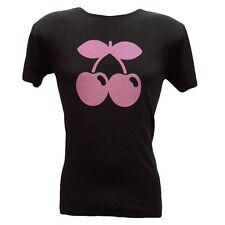 Pacha Ibiza Men's T-shirt Contrast Cherry Tone Logo Black festival Tee