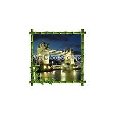 Sticker mural trompe l'oeil déco bambou Londres réf 917