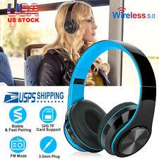 Wireless Headphone Foldable Earphone Over Ear Noise Cancelling Headset w/MMC