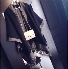 Extra Thick Winter Warm Acrylic Scarf DoubleSide Blanket Fashion Tartan Shawl