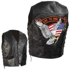 Hand-Sewn Pebble Grain Genuine Leather Mountain Biker/Motorcycle  Vest
