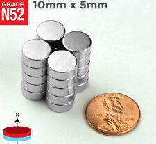 """5 10 25 50pc 10mm x 5mm 3/8"""" x 3/16"""" N52 Strong Disc Rare Earth Neodymium Magnet"""