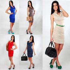 Lovely Cowl Neck Women's Dress Sleeveless Party Bodycon Sizes 8-18 5508
